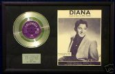 "PAUL ANKA- 7"" single Platinum Disc & songsheet - DIANA"